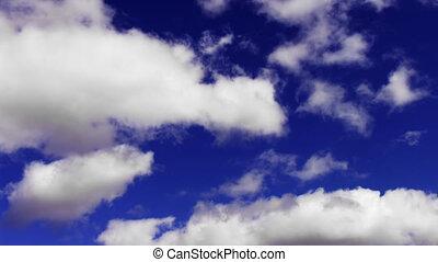 ciel, en mouvement, timelapse couvre, doux