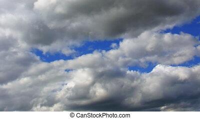 ciel, en mouvement, timelapse couvre