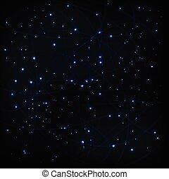 ciel, fond, vecteur, étoiles, cosmique