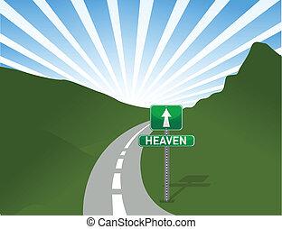 ciel, illustration, route