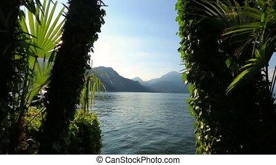 ciel, italy., lac como, paradis, aube, earth.