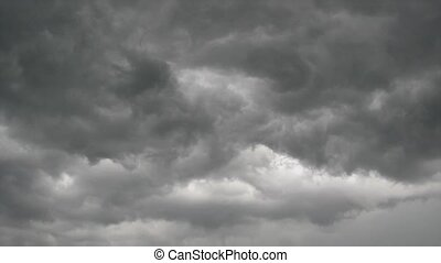 ciel, jonc, nuages, gris