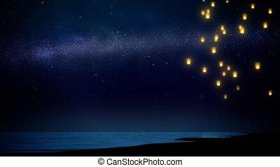ciel, lanterne