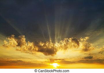 ciel, levers de soleil