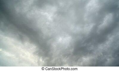 ciel, mouvements, nuages, rapidement
