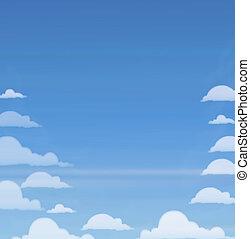 ciel, nuages, bleu