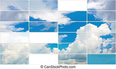 ciel, nuages, dos, boucle, seamless