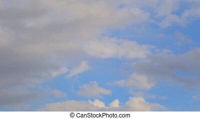 ciel, nuages, horizon