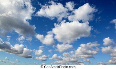 ciel, nuages, jour, cumulus