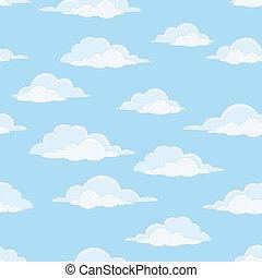 ciel, nuages, seamless