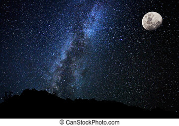 ciel, nuit, manière, étoiles, laiteux, galaxie