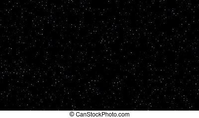 ciel, scintillement, réaliste, étoiles, nuit, boucle