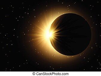 ciel, solaire, fond, espace, éclipse, 0410