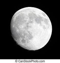ciel sombre, phase, lune