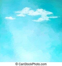 ciel, vecteur, nuages, fond
