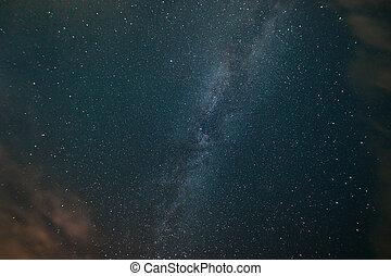 ciel, voie lactée, étoilé, nuit