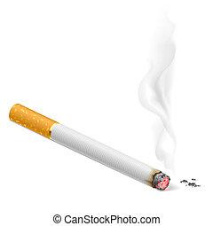cigarette fumant