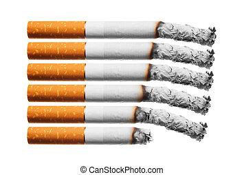 cigarettes, brulure
