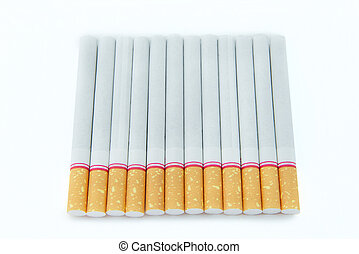 cigarettes, fond blanc