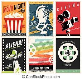 cinéma, collection, affiches