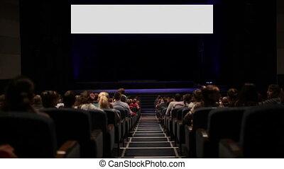 cinéma, motion., house., variante, écran, viewers