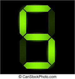 cinq, nombre, numérique