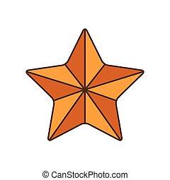 cinq, points, étoile, isolé, icône