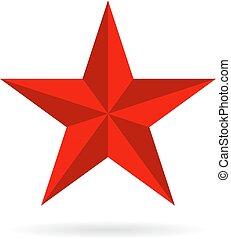 cinq, pointu, vecteur, étoile, icône