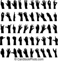 cinquante, mains
