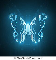circuit électronique, fond