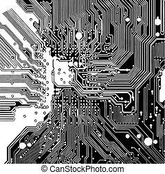 circuit, panneau ordinateur, (vector)