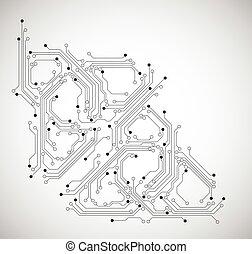 circuit, résumé, -, vecteur, planche, fond