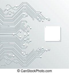 circuit, -, texture, vecteur, planche, fond, 3d