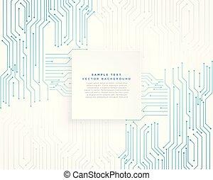 circuit, vecteur, fond, technologie, diagramme, bleu