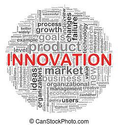 circulaire, innovation, étiquettes, conception, mot