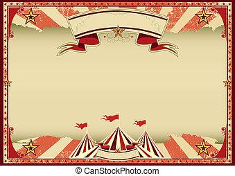 cirque, retro, rouges