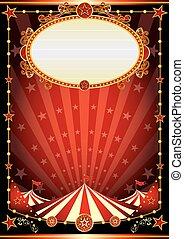 cirque, rouge noir, fond