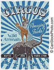 cirque, vendange, affiche
