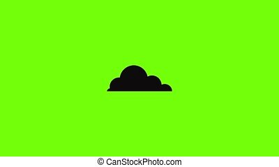 cirrus, animation, cumulus, icône