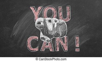 citation, inspirationnel, motivation, vous, can.
