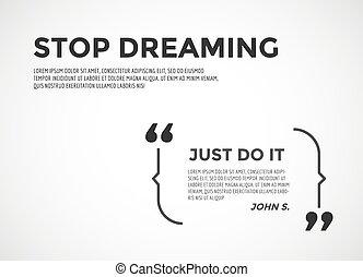 citation, quote., motivation, élément, vecteur, inspirationnel, note., stockage, inspiration, design.