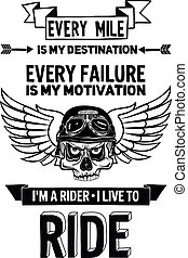 citation, vecteur, motard, locution, motivation