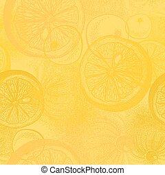 citron, citrus, modèle, fruit., papier peint, seamless