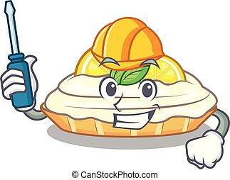 citron, délicieux, automobile, sucre, fait maison, gâteau, mascotte