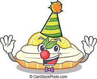 citron, délicieux, clown, sucre, fait maison, gâteau, mascotte