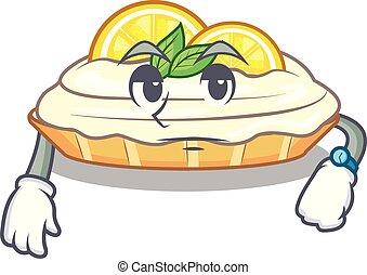 citron, délicieux, sucre, attente, fait maison, gâteau, mascotte