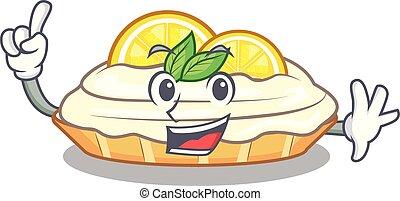citron, délicieux, sucre, doigt, fait maison, gâteau, mascotte