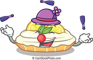 citron, délicieux, sucre, jonglerie, fait maison, gâteau, mascotte