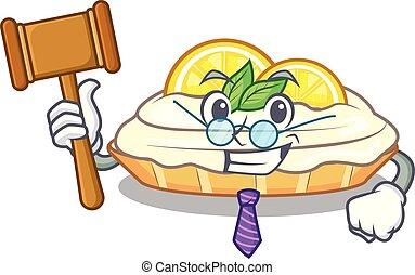 citron, délicieux, sucre, juge, fait maison, gâteau, mascotte