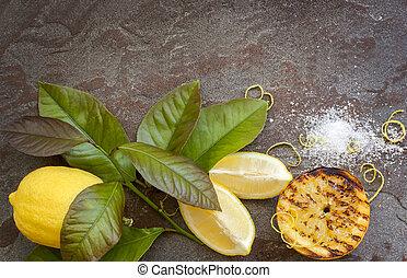 citron, fond, nourriture